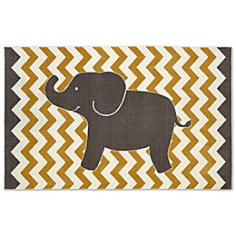 Mohawk Home Aurora Lucky Elephant Area Rug in Yellow