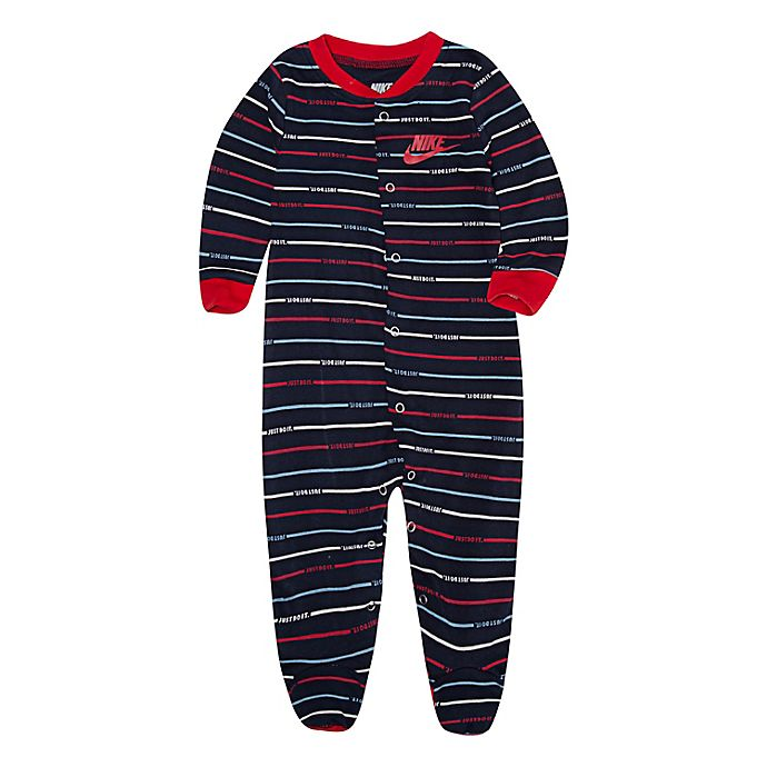 Alternate image 1 for Nike® Jordan Striped Footed Coverall
