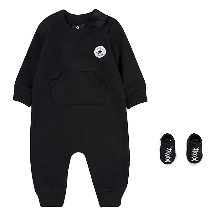 Alternate image 1 for Converse 2-Piece Lil Chuck Coverall and Bootie Set