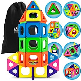 Discovery Kids™ 50-Piece Magnetic Tile Set