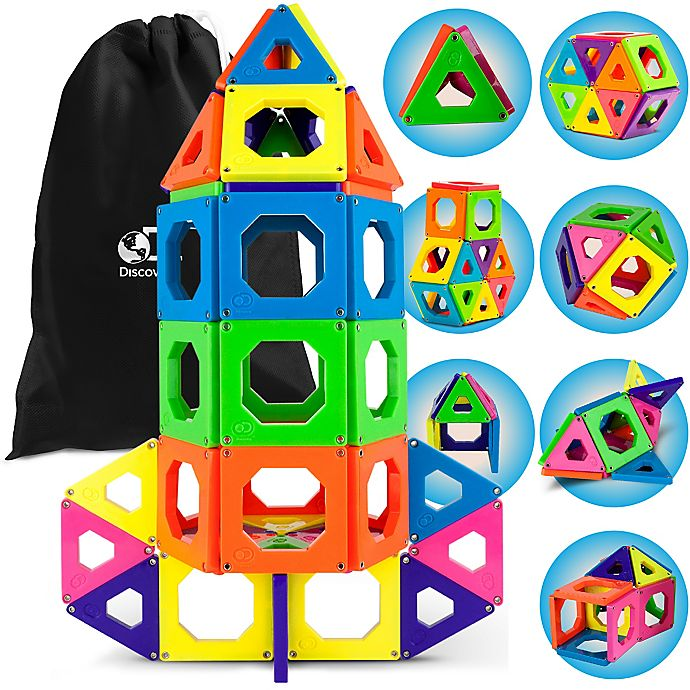 Alternate image 1 for Discovery Kids™ 50-Piece Magnetic Tile Set