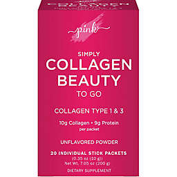 Pink® Simply Collagen Beauty To Go 20-Count Unflavored Powder Packets