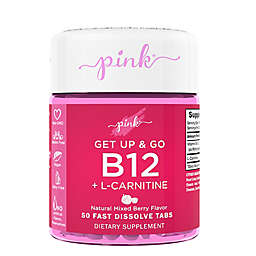 Pink® 50-Count Get up and Go B-12 + L-Carnitine Tabs in Natural Mixed Berry Flavor
