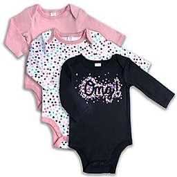 Modern Baby® 3-Pack OMG Bodysuits in Black