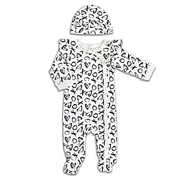 Modern Baby® 2-Piece Floral Footie and Hat Set in White