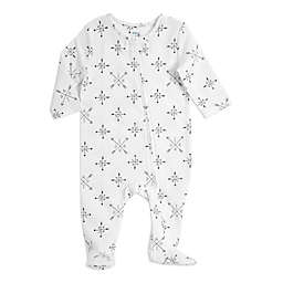 aden + anais® Love Long Sleeve Footie in Black