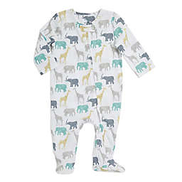 aden + anais® Safari Zip Muslin Footie in Grey