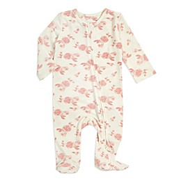 aden + anais® Rosettes Snuggle Knit Footie in Pink
