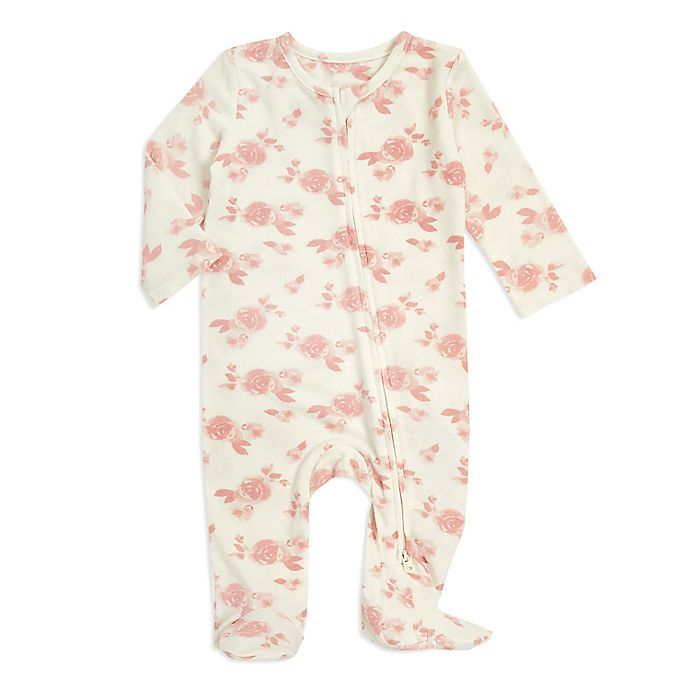 Alternate image 1 for aden + anais® Rosettes Snuggle Knit Footie in Pink