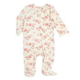 aden + anais® Size 6-9M Rosettes Snuggle Knit Footie in Pink