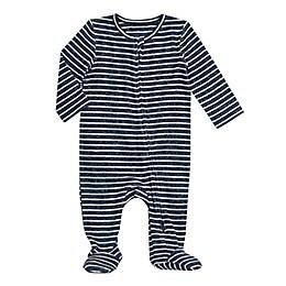 aden + anais® Snuggle Knit Footie in Navy Stripe