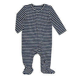 aden + anais® Size 0-3M Snuggle Knit Footie in Navy Stripe