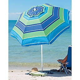 Rio 6-Foot Round Stripe Beach Umbrella