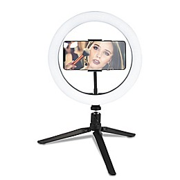 10-Inch Diameter LED Selfie Ring Light in Matte Black