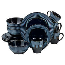 Over and Back® Kingston 16-Piece Dinnerware Set in Blue