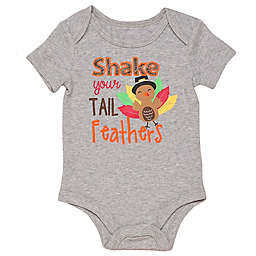 "Baby Starters® BWA® Size 12M ""Shake Your Tail Feathers"" Bodysuit in Grey"