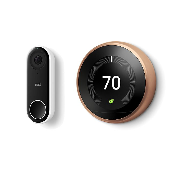 Alternate image 1 for Google Nest Learning Thermostat and Hello Doorbell Bundle