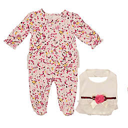 Baby Starters® 2-Piece Moonlit Garden Footie and Bib Set