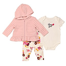 Baby Starters® 3-Piece Floral Hooded Jacket, Bodysuit, and Pant Set