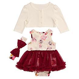 Baby Starters® 3-Piece Floral Tutu Bodysuit, Cardigan and Headband Set