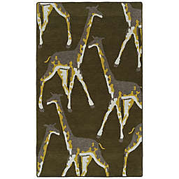 Kaleen Forever Fauna Giraffe 2' x 3' Indoor/Outdoor Accent Rug in Green