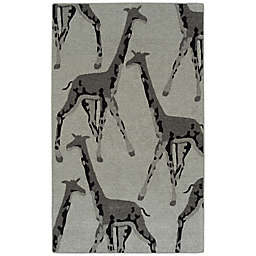 Kaleen Forever Fauna Giraffe 8' x 10' Indoor/Outdoor Area Rug in Grey