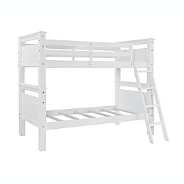 Powell Devon Twin Over Twin Bunk Bed in White