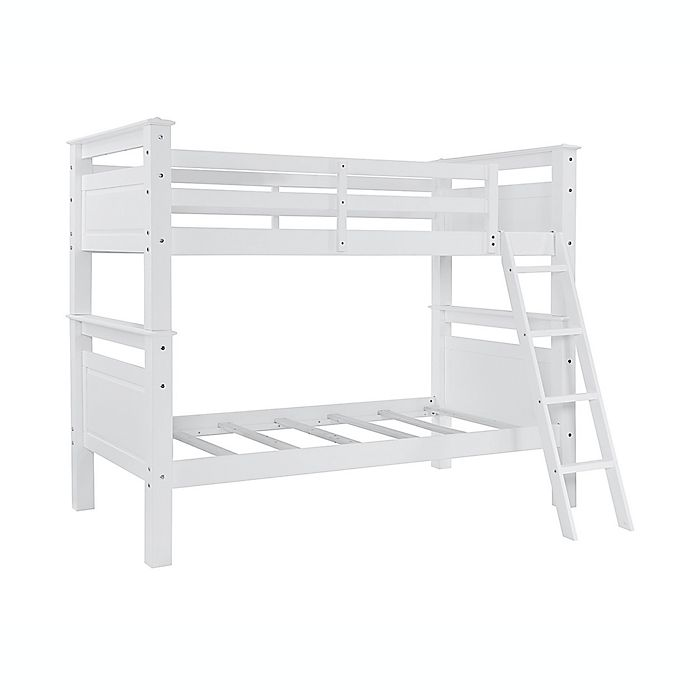 Alternate image 1 for Powell Devon Twin Over Twin Bunk Bed in White