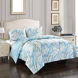Heritage Kids Marble 2-Piece Reversible Twin XL Comforter Set in Blue