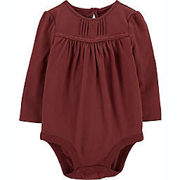OshKosh B'gosh® Size 3-6M Pintuck Bodysuit in Brown