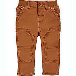 OshKosh B'gosh® Size 9-12M Knee Patch Carpenter Pants in Brown