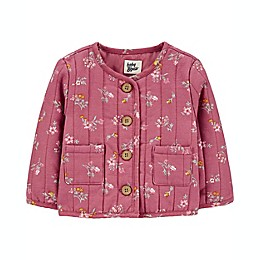 OshKosh B'gosh® Floral Quilted Jacket in Burgundy