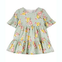 OshKosh B'gosh® Tiered Floral Bell Sleeve Dress in Sage
