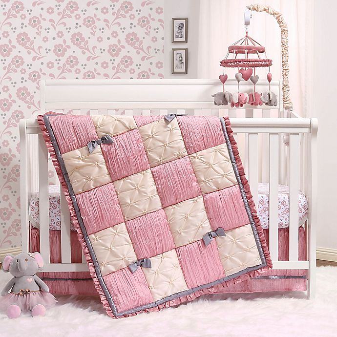 Alternate image 1 for PS by the peanutshell™ Bella 3-Piece Crib Bedding Set in Pink