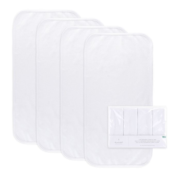 Alternate image 1 for PS by the peanutshell™ 4-Pack Waterproof Changing Pad Liners in White