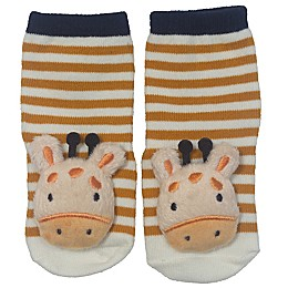 Little Me® Size 0-12M 2-Piece Giraffe Rattle and Rattle Bootie Set in Brown