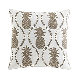 Pineapple Resort Embroidered Square Pillow