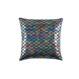Mermaid Ombre Square Throw Pillow