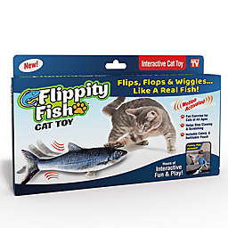 Flippity Fish Rechargeable Cat Toy in Grey