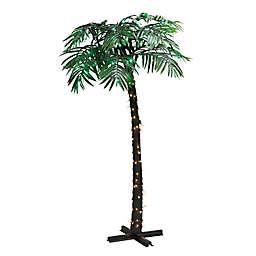 Puleo International Pre-Lit Faux Palm Tree