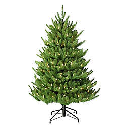 Puleo International 4.5-Foot Canadian Balsam Artificial Christmas Tree with White LED Lights