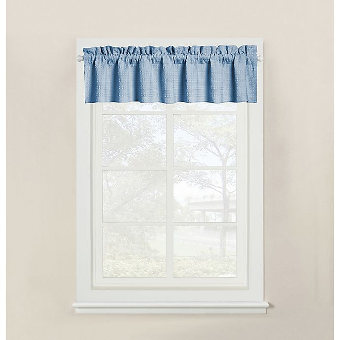 Alternate image 1 for Wamsutta® Hotel Window Valance in Blue
