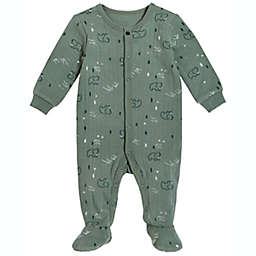 Petit Lem® Size 9M Mammoth Organic Cotton Footie in Green