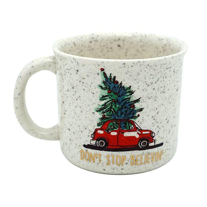 Alternate image 1 for Don't Stop Believin 14 oz. Coffee Mug in White