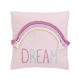 "NoJo® ""Dream"" Square Throw Pillow"