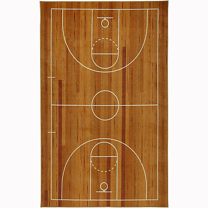 Alternate image 1 for Mohawk Home® Prismatic Basketball Court Rug in Brown