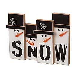 Glitzhome® Christmas Snowman Family Table Decoration