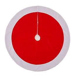 Glitzhome® 42-Inch Felt Christmas Tree Skirt in Red/White<br />