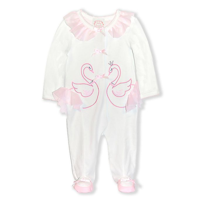 Alternate image 1 for Biscotti Swan Footie Coverall in Ivory