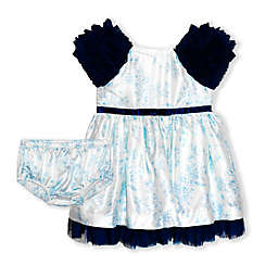 Biscotti Size 3M 2-Piece Toille Dress and Panty Set in Blue